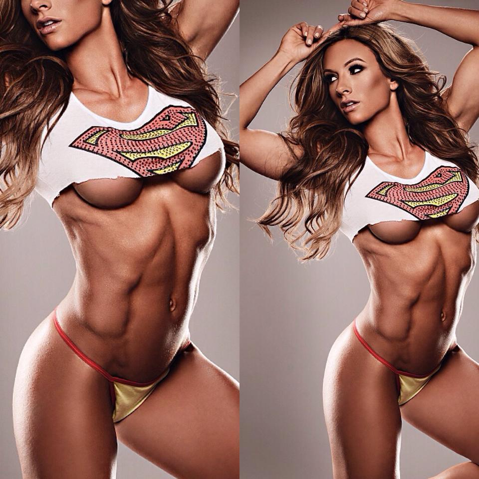 Fitness Girl Under Boob